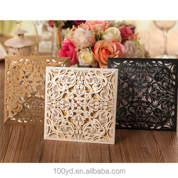 Red black rose lace envelopes for wedding invitations card supplier