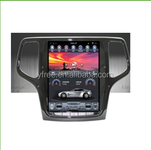 "tesla style 12.1""inch android car multimedia for JEEP Grand Cherokee autoradio stereo dvd players with GPS 2 din double 10.4"""