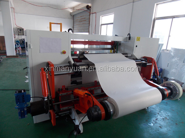 High Speed Receipt Paper Parent Roll Converting Equipment,China Thermal Paper Taxi Paper Roll to Roll Cutting Machine