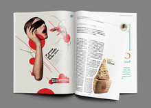 high quality glossy / matt paper printed magazine