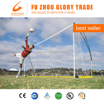 Portable Soccer Practice Nets Football Kicking Frame and Net