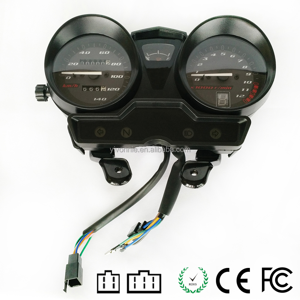OEM LCD Electric Meters with Gears Status Indicator Motorcycle Digital Speedometer for Yamaha JYM125