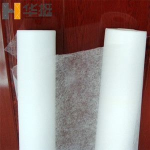 China wholesale thermal glue PA hot melt adhesive film 30 g/sqm 150cm width nonwoven fusible interlining