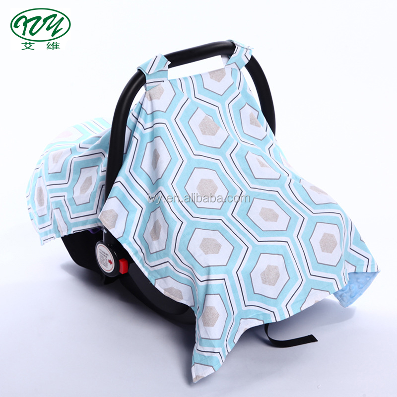 Two layers spring autumn winter sheepskin infant car seat canopy universal baby carseat cover