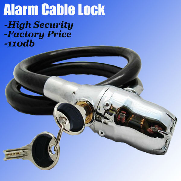2013 Smart motorcycle cable kinbar alarm lock For Motorcycle