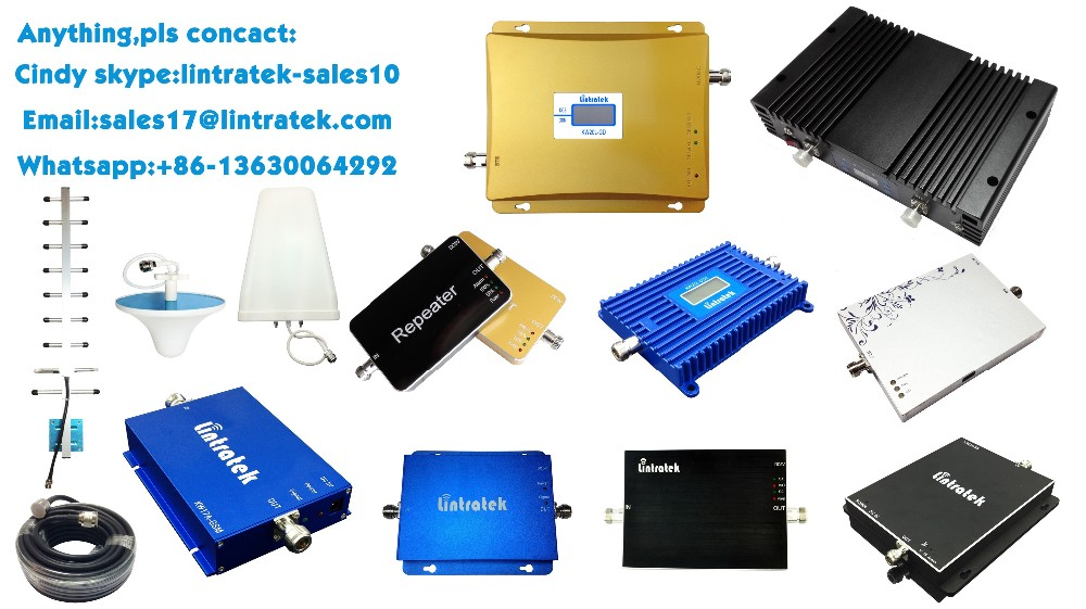 mobile signal booster/cell phone signal receiver/audio amplifier with LCD screen lintratek new arrival!