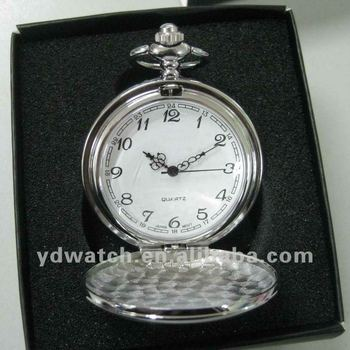Alloy antique quartz pocket watches, Japan movt