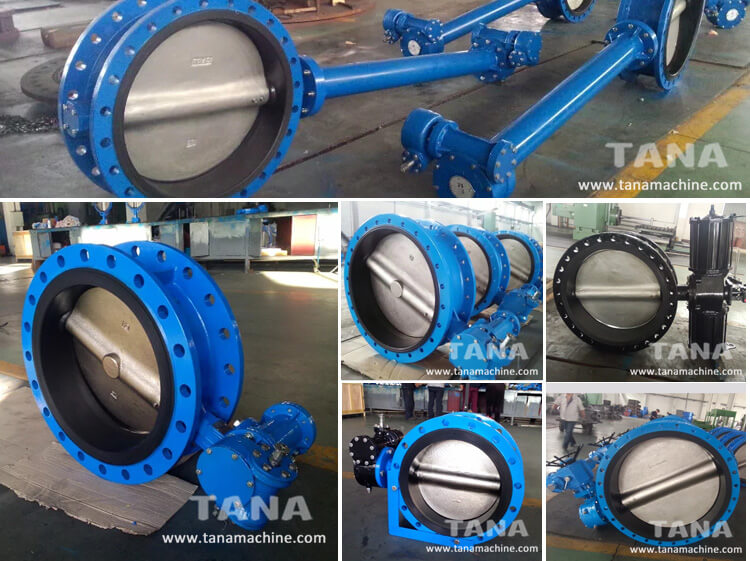 Cast iron Double flange concentric rubber seal butterfly valve dn250 pn16