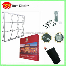 Portable backdrop stand pop up display booth with one fabric spring wall
