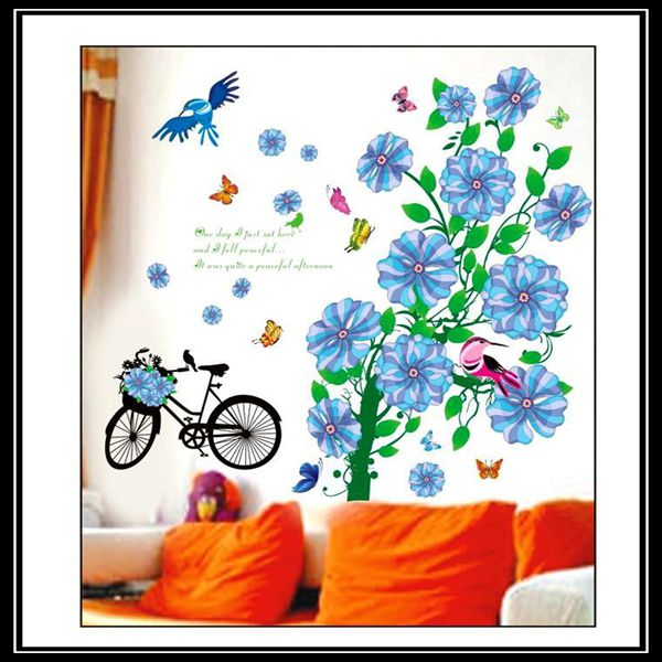 Large Flower Decoration Fashion Wall Sticker 3D Room Decal