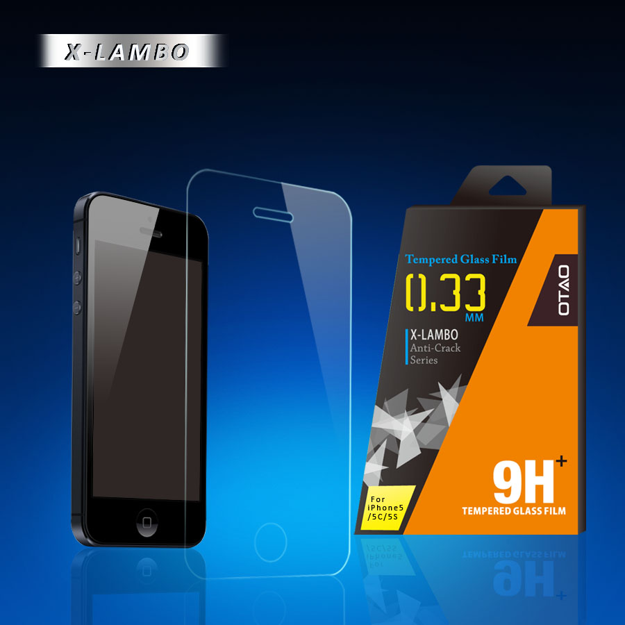 OTAO anti crack magnetic screen protector for iphone 5 tempered glass film