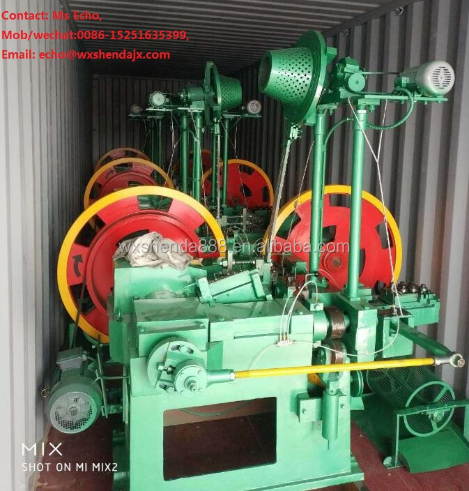 Wuxi Small Automatic Roofing Umbrella Nail Making Machine Factory China