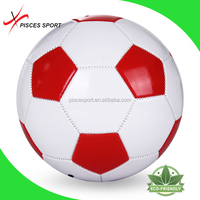 Pisces white/red wholesale official size and weight soccer ball football