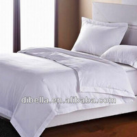 Bleached stripe white fabric for hotel bedding sheets