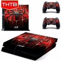 Hot selling spider series vinyl skin sticker for ps4 controller