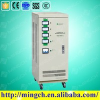 CE ROHS approved 9KVA three phase servo motor type voltage stabilizer voltage regulator inverter
