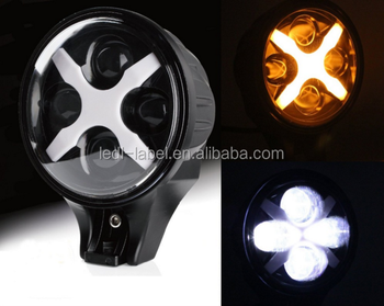 Round 6'' Auxiliary light 60W 6 inch led headlight for J-eep W-rangler offroad spotlight driving lights