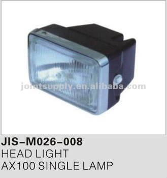 Motorcycle spare parts and accessories motorcycle head light for AX100 SINGLE LAMP