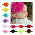 Hot sale european style Chiffon hollow out big flower baby hair band baby hair accessories
