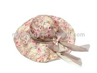 print pattern cotton safari ladies bucket hat