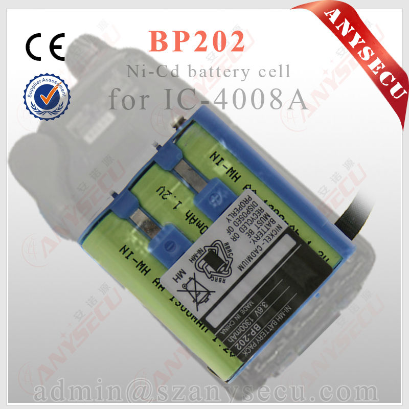 two way radio BP-202 3.6V 1300mAH battery with pull out cloth easy operate battery