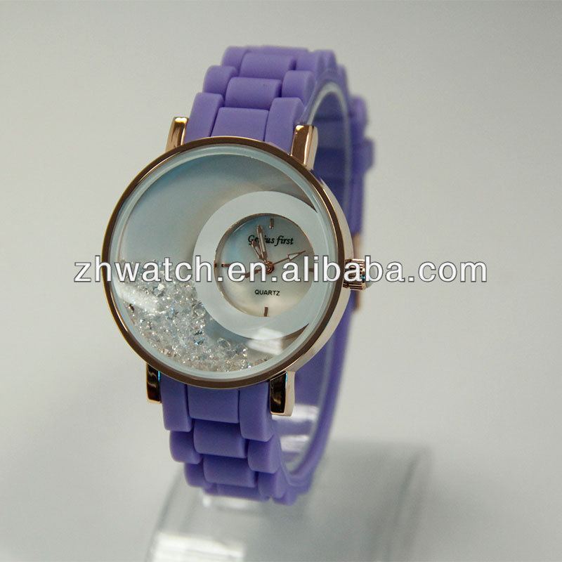 2014 latest promotional gift logo silicone watch