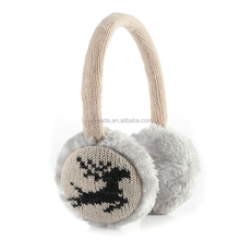 The best-selling Christmas deer knitted earmuffs earmuffs