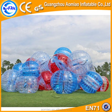 Cheap human inflatable body bounce grass used bumper bubble ball, bubble soccer ball