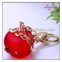 2013 new design crystal fashion apple shape mexico key chain