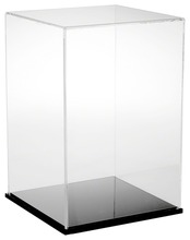 Custom Clear Acrylic Display Box/ Showcase, Plexiglass Display Cabinet, Perspex Display Stand with Black Base