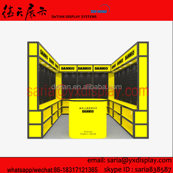 3D trade show booth stand, portable booth stand design from Shanghai stand factory
