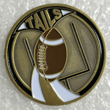 High quality Brass changes Coins Baseball Pin with soft enamel