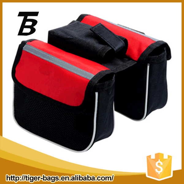 Factory direct price mens red double polyester small mini bicycle tool bag