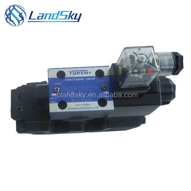 "hydraulic solenoid valve DSHG-<strong>03</strong>-2B2-E-RB stroke adjustment is on B Port side 2B2 spool and ""E"" external drain DC24V DSHG-<strong>03</strong>"