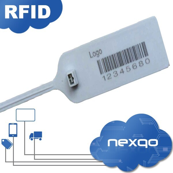 Plastic rfid cable tie tag for management