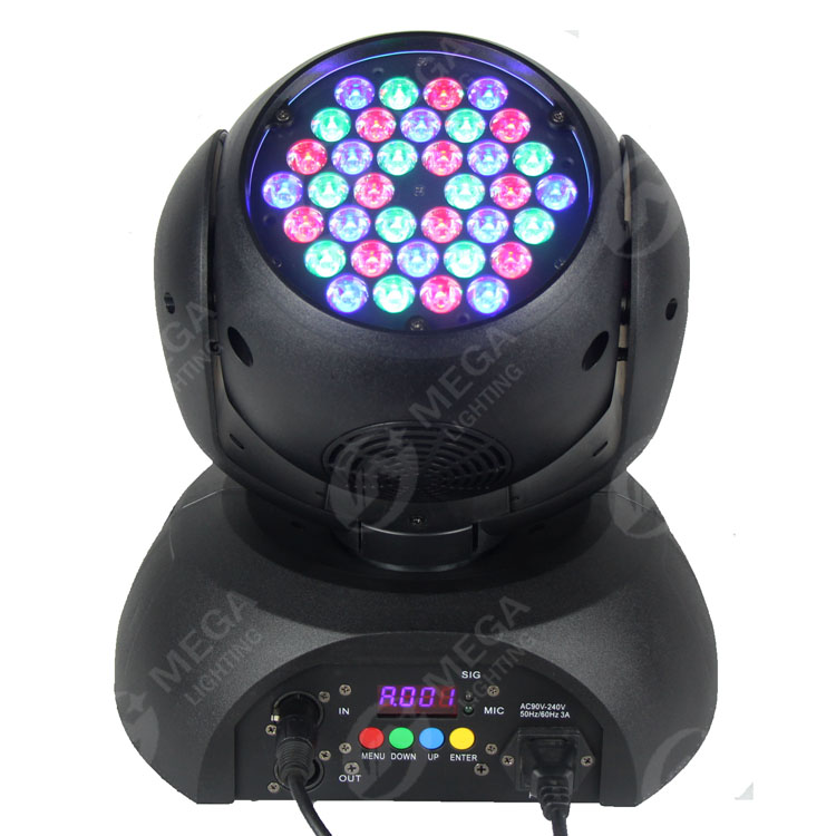 2017 stock 36X3W rgb <strong>led</strong> moving head wash stage lighting