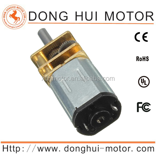 N20 DC Motor 6v Battery Operated 12mm metal Micro Geared Motor