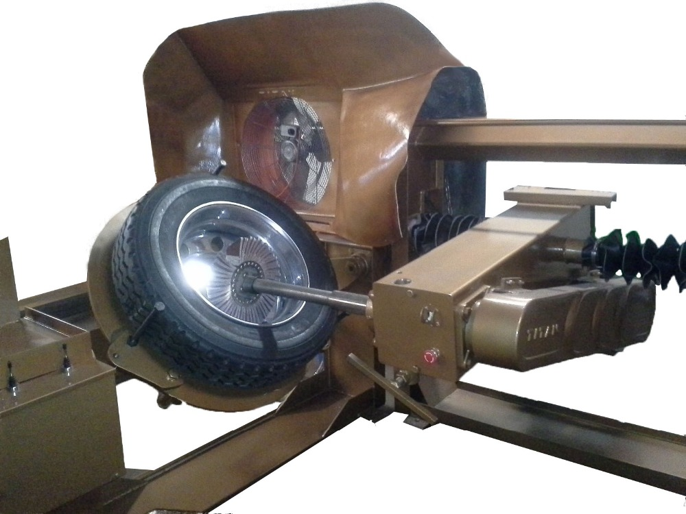 aluminum wheel buffing machine