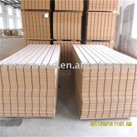 supply high quality slotted mdf with aluminum profiles