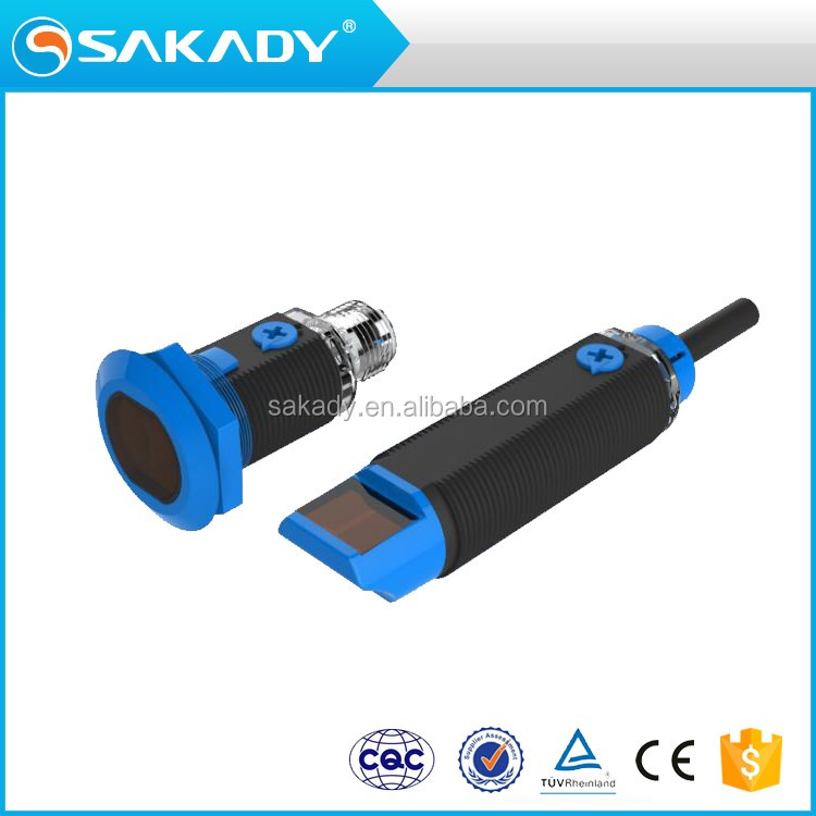MEGA IP 65 waterproof standard plastic NPN CCC CE TUV 24V Diffuse reflection Cylindrical photoelectric switch sensor