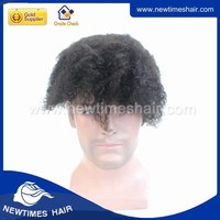 Human Hair Full Cap Wig Afro Curly Wig For Black Men