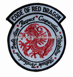red dragon embroidered patch