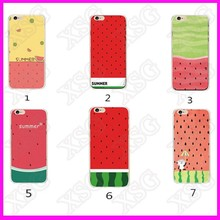 Cheap cute screen protectot watermelon Phone case cover skin for iPhone silicone case with rubber cover for iphone6s