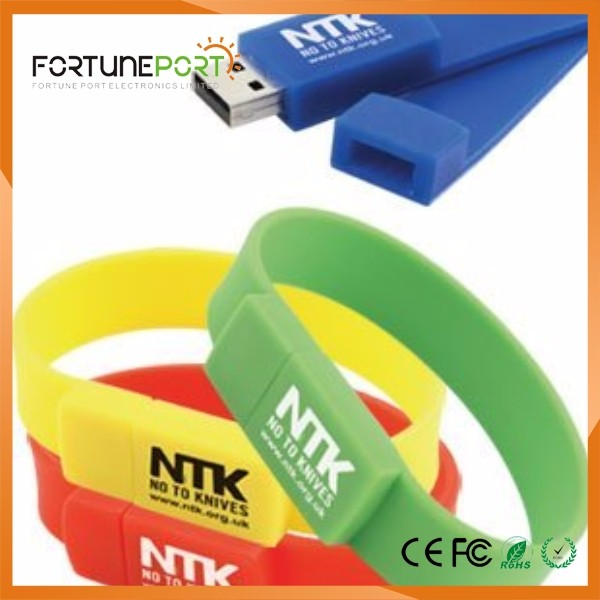 usb flash drives 4gb custom logo usb free wristband usb pen drives for years ending gifts corporate