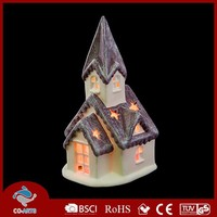 Wholesale personalized hand made ceramic led ornaments