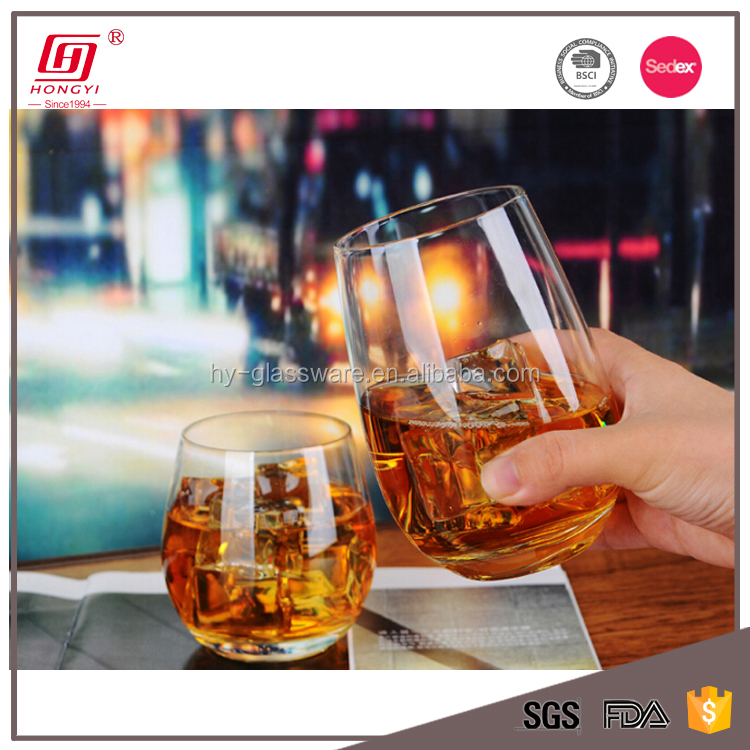 Unique products 2018 round glass tumbler whiskey vodka glass