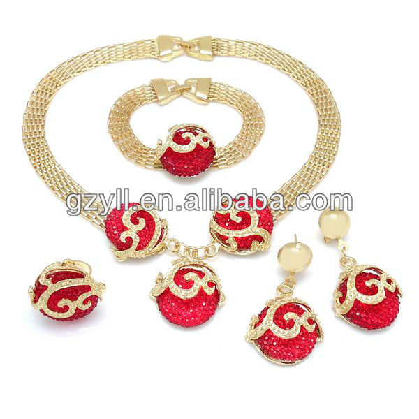 arabic wedding jewelry sets / immitation emerald fashion jewelry /jewelry set wholesale