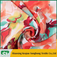 Best selling China supplier 100% polyester twill chiffon fabric/floral soft chiffon for scarf