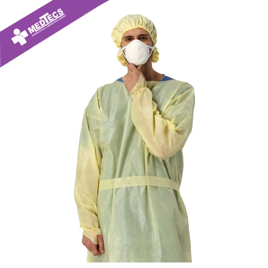 Ppsb Fabric Disposable Yellow Isolation Gown - Buy Ppsb Fabric Gown ...