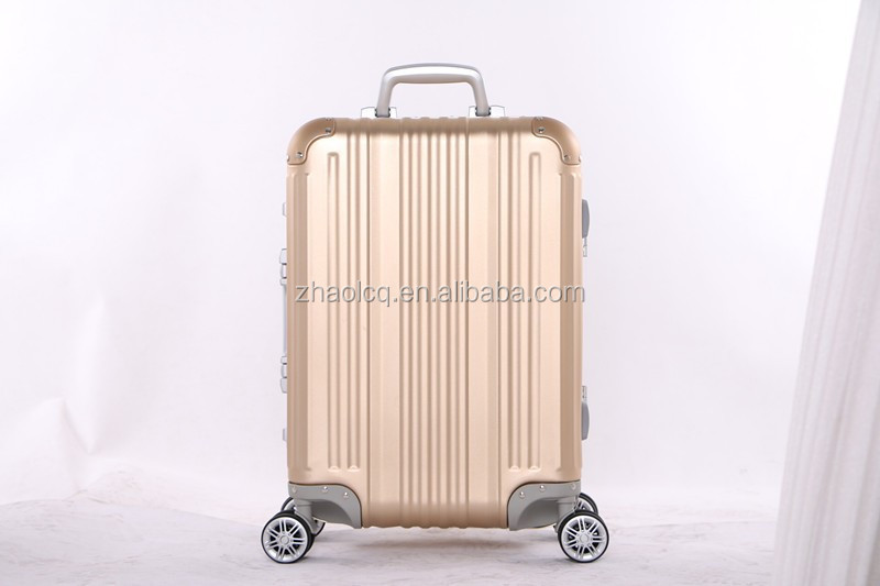 Trolley aluminum luggage/ trolley aluminum suitcase
